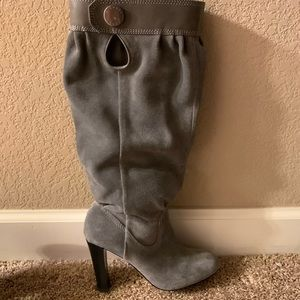 Talk Or Slouch Suede Boots